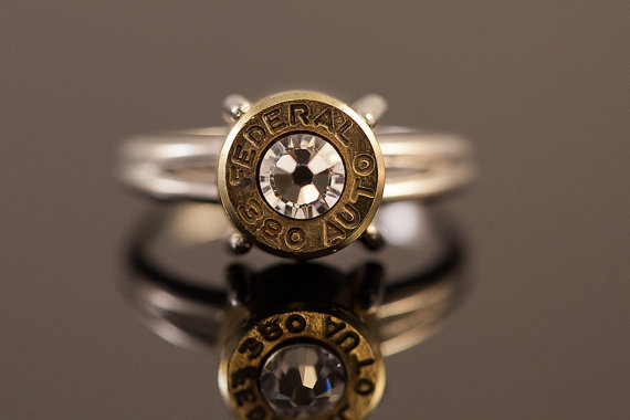 Any really, what says I Love You like a ring made from a spent bullet casing?